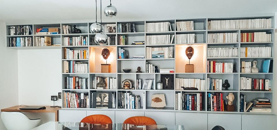 Une bibliothèque design sur-mesure !